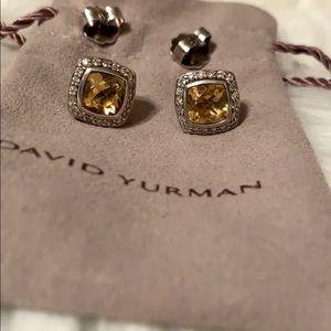 David Yurman Citrine & Diamond Albion Earrings